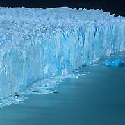 Close up view of enormous Porito Moreno Glacier in Parque Nacional las Glaciares, Patagonia, Argentina.