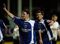 Photo: Daniel Hambury.<br />Luton Town v Cardiff City. Coca Cola Championship. 14/02/2006.<br />Cardiff's Jason Koumas celebrates his second goal. 3-3.