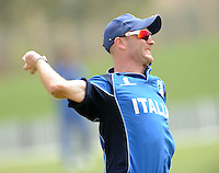 ICC World Twenty20 Qualifier UAE 2012.Scotland take on Italy at the Global Cricket Academy, Dubai, in their 6th game of the tournament..Pic shows.