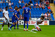 Bournemouth midfielder Philip Billing  (29) can't believe he missed the goal during the EFL Sky Bet Championship match between Cardiff City and Bournemouth at the Cardiff City Stadium, Cardiff, Wales on 18 September 2021.