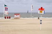 Belgie, Oostende, 6-9-2019 Aan het strand langs de Noordzee van deze mondaine badplaats in vlaanderen. Foto: Flip Franssen