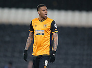 Hull City striker Abel Hernandez (9) during the Sky Bet Championship match between Hull City and Brighton and Hove Albion at the KC Stadium, Kingston upon Hull, England on 16 February 2016.