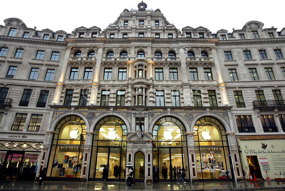 Apple Store on Regent Street, London. This is Apple's flagship store in the UK. At the time this was the first such store in Europe, the others being in the United States and Japan.