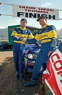 Podium - Possum Bourne & Craig Vincent - Subaru Impreza WRC 98  - Saxon Safari Tasmania - ARC- 11th-12th September 1999