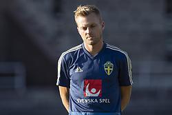 September 3, 2018 - Stockholm, SVERIGE - 180903 Sveriges Sebastian Larsson  under Sveriges trÅning den 3 september 2018 i Stockholm  (Credit Image: © Jesper Zerman/Bildbyran via ZUMA Press)
