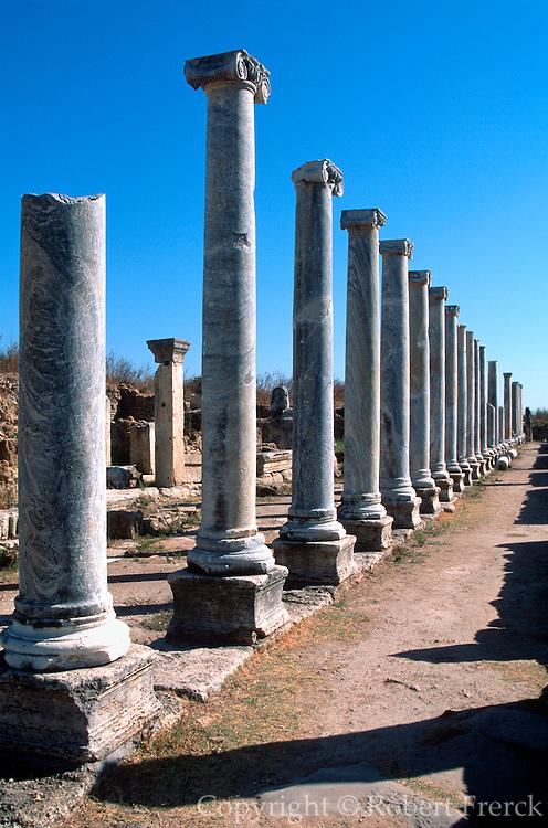 TURKEY, GREEK AND ROMAN Perge; Ionic columns, stoa, agora market