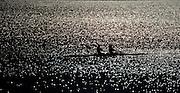 Varese,  ITALY. 2012 FISA European Championships, Lake Varese Regatta Course.  ..General Views of the Lake Varese Rowing Course.17:20:08  Thursday  13/09/2012 ..Sunrise, Sunsets, Silhouette...[Mandatory Credit Peter Spurrier:  Intersport Images]  ..2012 European Rowing Championships Rowing, European,  2012 010639.jpg.....
