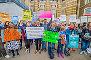 The Health Singers serenade the nurses and doctors after their march on the department of health in Whitehall - The picket line at St Thomas' Hospital. Junior Doctors stage another 48 hours of strike action against the new contracts due to be imposed by the Governemnt and health minister Jeremy Hunt.Nurses are protesting about the loss of their training bursaries in 2017.