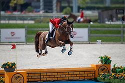 Verberckmoes Maartje, BEL, Jugano van de Vosberg<br /> Juniors European Championships Jumping <br /> Samorin 2017© Hippo Foto - Dirk Caremans<br /> 11/08/2017