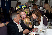 SIR VIDIA NAIPAUL; KATRINE BOORMAN; , Liberatum 10th Anniversary dinner in honour of Sir Peter Blake. Hosted by Pable Ganguli and Ella Krasner. The Corinthia Hotel, Whitehall. London. 23 November 2011.