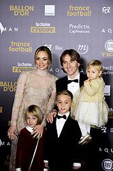 December 3, 2018 - Paris, France, France - Luka Modric - sa femme Vanja et ses enfants (Credit Image: © Panoramic via ZUMA Press)