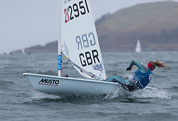 The annual RYA Youth National Championships is the UK's premier youth racing event. Day 3 with winds backing to the North the racing started on the Largs Channel.<br /> <br /> 212951, Matilda Nicholls, Royal Lymington YC / Aldeburgh YC, Laser Radial Girl <br /> <br /> Images: Marc Turner / RYA<br /> <br /> For further information contact:<br /> <br /> Richard Aspland, <br /> RYA Racing Communications Officer (on site)<br /> E: richard.aspland@rya.org.uk<br /> m: 07469 854599