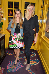 Left to right, IRENE FORTE and CHELSY DAVY at a party for the UK launch of Mr Boho held at Annabel's, 44 Berkeley Square, London on 19th May 2016.