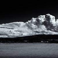 Clouds over Sequim<br />editted 3/02/17<br /> converted to B&W 3/02/17<br /> printed 3/0217