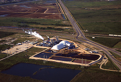 Stock photo of the aerial view of an industrial plant