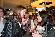 TOMASZ DONOCIK; GISELE GANNE, Wolf & Badger - pop-up store launch party. Wonder Room, Selfridges, 13 August 2010. -DO NOT ARCHIVE-© Copyright Photograph by Dafydd Jones. 248 Clapham Rd. London SW9 0PZ. Tel 0207 820 0771. www.dafjones.com.