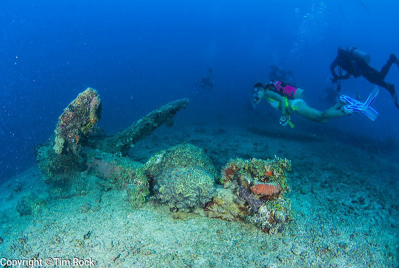 The WWI German ship SMS Cormoran was sunk in Guam and now rests next to the WWII shipwreck Tokai Maru. Pictured here the engine room, stack and passageways.