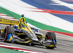 March 22, 2019 - Austin, Texas, U.S. - ZACH VEACH (26) of the United States goes through the turns during practice for the INDYCAR Classic at Circuit Of The Americas in Austin, Texas. (Credit Image: © Walter G Arce Sr Asp Inc/ASP)