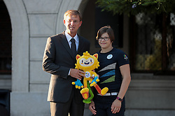 Miro Cerar and Tina Trstenjak during reception of Slovenian Olympic Team at Vila Podroznik when they came back from Rio de Janeiro after Summer Olympic games 2016, on August 26, 2016 in Ljubljana, Slovenia. Photo by Matic Klansek Velej / Sportida