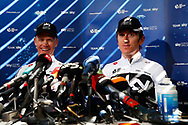 Press conference, Christopher Froome (GBR - Team Sky) and Geraint Thomas (GBR - Team Sky) during the 105th Tour de France 2018, 2nd Rest day in Carcassonne, France, on July 23th, 2018 - Photo Luca Bettini / BettiniPhoto / ProSportsImages / DPPI