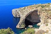The Blue Grotto natural sea arch and cliffs, Wied iz-Zurrieq, Malta