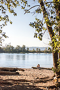 Kelley Point Park is where the Willamette River meets the Columbia River in Oregon.