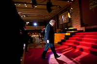 Sir David Frost, winner of The Founders Award, takes the stage at the 37th International Emmy Awards Gala in New York on Monday, November 23, 2009.  ***EXCLUSIVE***