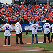 NEW YORK, NEW YORK - May 28: Darryl Strawberry receives a standing ovation as he is introduced to the crowd during the anniversary celebration of the 1986 World Championship team before the Los Angeles Dodgers Vs New York Mets regular season MLB game at Citi Field on May 28, 2016 in New York City. (Photo by Tim Clayton/Corbis via Getty Images)