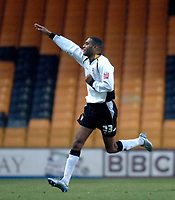 Photo: Glyn Thomas.<br />Port Vale v Southend United. Coca Cola League 1.<br />26/11/2005.<br />Port Vale's Leon Constantine celebrates after scoring a goal.