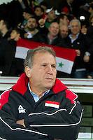 Malmö  2012-10-11  Fotboll  Landskamp  Brazil    - Iraq   :  Iraq Coach Zico.(Foto: Christer Thorell, Pic-Agency.com) Nyckelord : porträtt portrait.