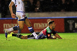 Danny Care of Harlequins scores a try - Photo mandatory by-line: Patrick Khachfe/JMP - Mobile: 07966 386802 17/10/2014 - SPORT - RUGBY UNION - London - Twickenham Stoop - Harlequins v Castres Olympique - European Rugby Champions Cup