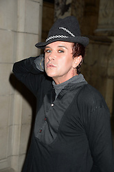 STEVE STRANGE at the opening of Club To Catwalk: London Fashion In The 1980's an exhibition at The V&A Museum, London on 8th July 2013.