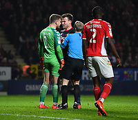 Football - 2018 / 2019 EFL Sky Bet League One - Play-Off Semi-Final, Second Leg: Charlton Athletic (2) vs. Doncaster Rovers (1)<br /> <br /> Charlton Athletic's Dillon Phillips has a heated exchange with Doncaster Rovers' Andy Butler, at The Valley.<br /> <br /> COLORSPORT/ASHLEY WESTERN