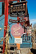 Ice Cream store, Weston, Vermont, VT, USA