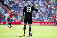 Osasuna player Nauzet Pérez during a match of La Liga Santander at Santiago Bernabeu Stadium in Madrid. September 10, Spain. 2016. (ALTERPHOTOS/BorjaB.Hojas)