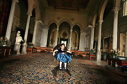 Ariana Cochrane, 3, granddaughter of Yvonne, Lady Cochrane Sursock, 83, is seen inside of the Sursock Mansion, Beirut, Lebanon, April 12, 2006. The family, part of the aristocracy, has seen the country through peace, war and reconstruction.