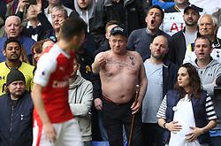 30 April 2017 London : Premier League Football : Tottenham Hotspur v Arsenal :<br /> Mesut Ozil is abused by Tottenham supporters.<br /> Photo: Mark Leech