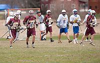 Boys varsity Lacrosse Gilford versus Lebanon April 18, 2011.