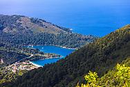 A gulf in a shape of a heart in Skopelos island