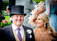 King Willem-Alexander and Queen Maxima attend the Royal Ascot, 18-06-2019