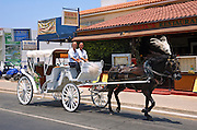 Cyprus, Agia Napa, A decorated horse and cart used for the wedding ceremonials of tourist who come to Agia Napa to get married. Agia Napa is a small vacation town on the Mediterranean Sea on the southern shores of the island