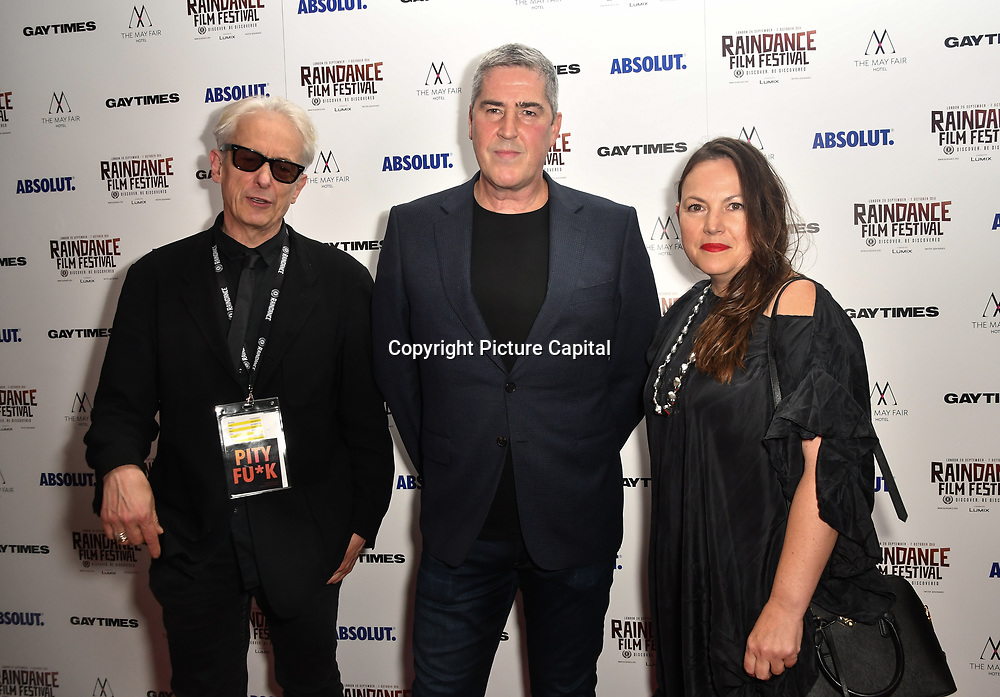 Elliot Grove,David Austin and guest attends Raindance Film Festival Gay Times Gala screening - George Michael: Freedom (The Director's Cut) London, UK. 4th October 2018.