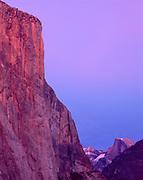 Twilight, El Capitanand Half Dome,Yosemite National Park, California