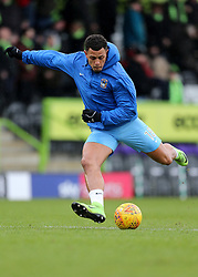 Coventry City's Jonson Clarke-Harris warms up before kick off