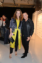 JULIEN MACDONALD and ISABELLE DE LA BRUYERE at the Audemars Piguet Royal Oak Offshore 42mm Party held at Victoria House, Bloomsbury Square, London on 23rd April 2014.