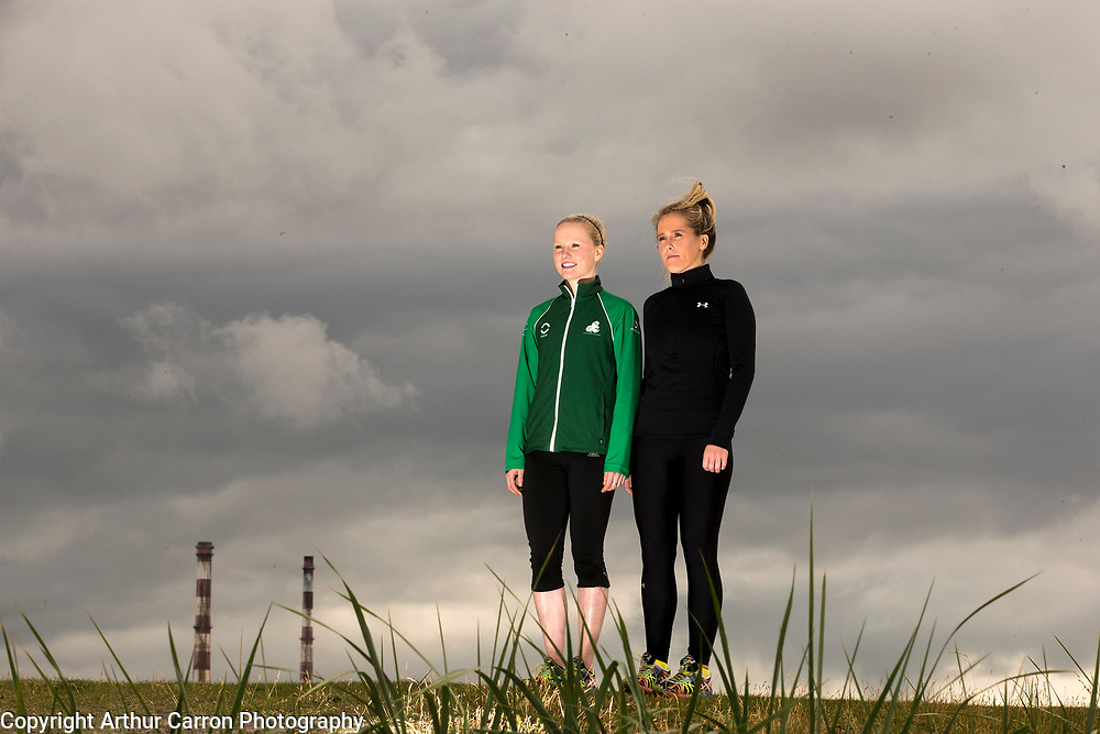 21/7/15 Rachel (right) and Carolyn Hayes pictured swimming at Bull Island in Dublin. Picture:Arthur Carron