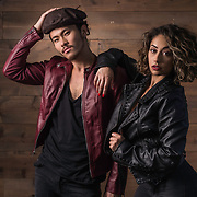 Studio fashion shoot with LA dancers, Michelle Janine and Larry Leong. Images made at FD Photo Studios; Stage Art 4 on March 28, 2018 in Downtown Los Angeles, California.  ©Michael Der, All Rights Reserved.  Please contact Michael Der for all licensing requests.