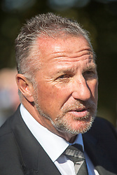 © Licensed to London News Pictures. 30/09/2015. Leeds, UK. Picture shows Ian Botham. A Remembrance service has taken place for former Yorkshire & England cricket captain Brian Close. Mr Close died at his home in Baildon aged 84 after a long battle with cancer. Photo credit: Andrew McCaren/LNP