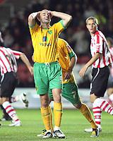Antoine Sibierski (Norwich City)<br /> Southampton vs Norwich City Coca-Cola Championship St Mary's Stadium 30/9/2008<br /> Credit Colorsport / Shaun Boggust