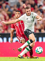 01.08.2017, Allianz Arena, Muenchen, GER, Audi Cup, FC Bayern Muenchen vs FC Liverpool, im Bild Corentin Tolisso (FC Bayern Muenchen), Jordan Henderson (FC Liverpool) // during the Audi Cup Match between FC Bayern Munich and FC Liverpool at the Allianz Arena, Munich, Germany on 2017/08/01. EXPA Pictures © 2017, PhotoCredit: EXPA/ JFK
